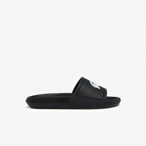 Womens Croco Rubber Slides