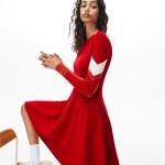 Womens Color Block Stripe Polo Dress