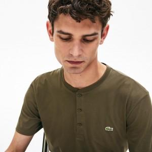 Men's Regular Fit Pima Cotton Henley T-shirt