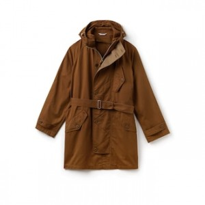 Mens Hooded Oversized Twill Parka