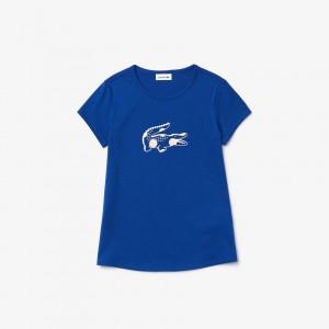 Girls' Oversize Croc Cotton T-shirt with
