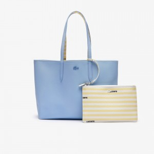 Womens Anna Reversible Solid Or Striped Colourblock Tote Bag