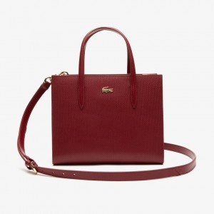Womens Chantaco Dual Carry Pique Zip Leather Tote