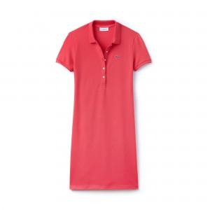 Womens Stretch Cotton Mini Pique Polo Dress