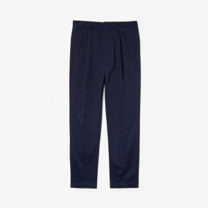 Mens Pleated Cotton Twill Pants