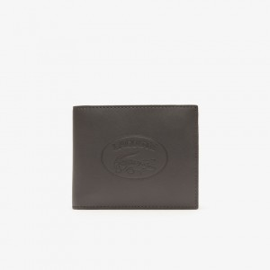 Mens L.12.12 Embossed Grained Leather Wallet