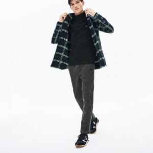 Mens Cotton And Wool Blend Fleece Sweatpants