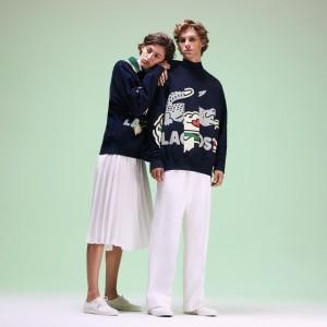 Unisex Fashion Show Crocodile Printed Sweatshirt