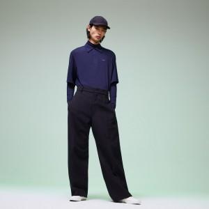 Mens Fashion Show Wide Leg Wool Pants