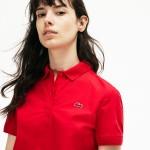 Womens Regular Fit Stretch Poplin Polo Shirt