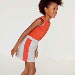 Girls Colorblock Fleece Skirt