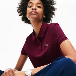 Womens Classic Fit Soft Cotton Petit Pique Polo Shirt