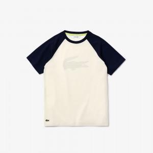 Boy's Raglan-Sleeve Cotton T-Shirt