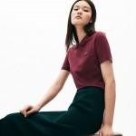 Womens LIVE Velvet-Croc Pique Polo Shirt