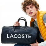 Mens L.12.12 Signature Detachable Shoulder Strap Leather Duffel Bag