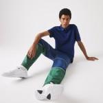 Mens Regular Fit Linen-Blend Polo Shirt