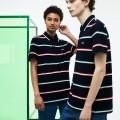 Unisex Fashion Show Colored Stripes Pique Polo