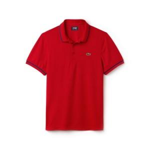 Mens SPORT Tennis Piped Technical Pique Polo Shirt