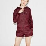 Womens SPORT Tennis Hooded Zippered Fleece Sweatshirt