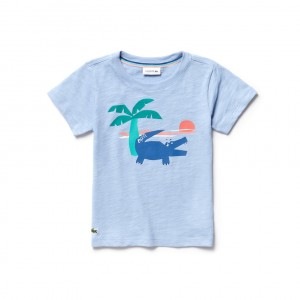 Boys Crew Neck Crocodile Print T-Shirt