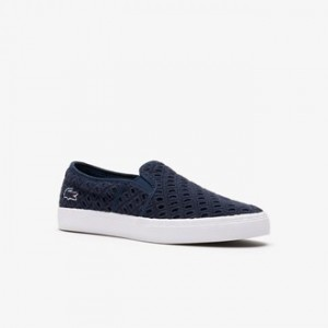 Womens Gazon Broderie Anglaise Textile Slip-ons