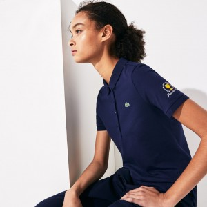 Womens Presidents Cup Stretch Cotton Pique Golf Polo Shirt