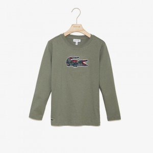 Boys Camo Crocodile Cotton T-shirt