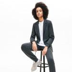 Womens Brushed-Knit Blazer