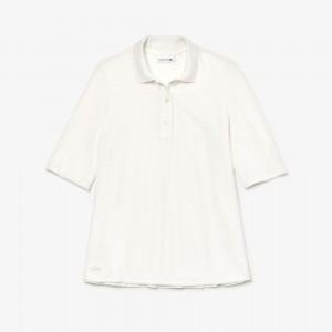 Womens Pleated Back Petit Pique Polo