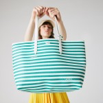 Womens Anna Reversible Solid Or Striped Colorblock Tote Bag
