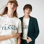 Unisex LIVE Tennis-Print Cotton T-Shirt