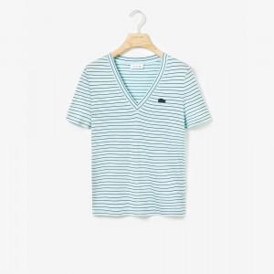 Womens V-neck Jersey T-shirt