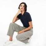 Womens LIVE Teardrop Opening Mini Pique Polo Shirt