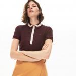 Womens Contrast-Trim Stretch Cotton Polo