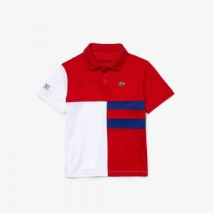 Boys SPORT Colorblock Breathable Pique Tennis Polo Shirt