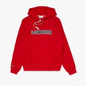 Mens Lacoste Hooded Fleece Sweatshirt