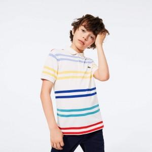 Boy's Colored-Stripe Polo