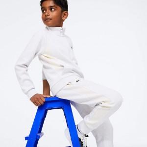 Boys' Full-Zip Contrast Side Panels Fleece Pants