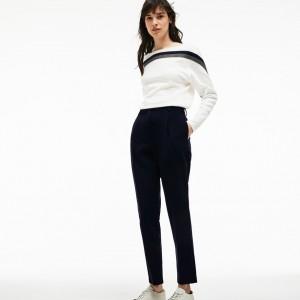 Womens Slim Fit Stretch Cotton Gabardine Carrot Pants