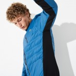 Mens SPORT Quilted Mixed-Material Zip Tennis Jacket