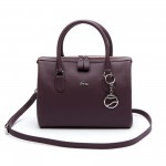 Womens Daily Classic Coated Pique Canvas Boston Bag