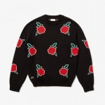 Mens LIVE Jacquard-Rose Cotton Sweater
