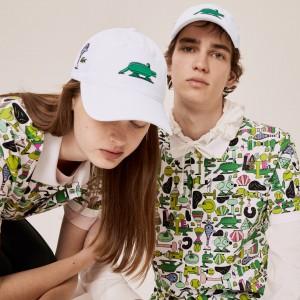 Unisex Lacoste x Jeremyville Design Cotton Cap