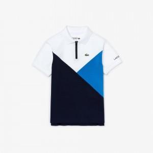 Boys Lacoste SPORT Colourblock Ultra-Light Knit Polo Shirt