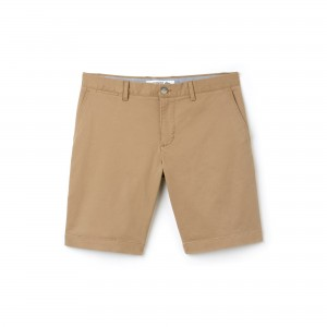Mens Slim Fit Stretch Gabardine Bermuda Shorts