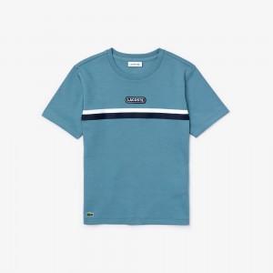 Boys' Crew Neck Two-Tone Band Cotton T-shirt