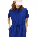 Womens Flowing Gabardine Polo Dress