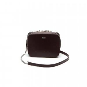 Womens Chantaco Christmas Square Pique Leather Shoulder Bag