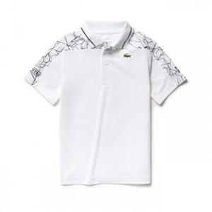 Boys SPORT Stretch Technical Jersey Polo- Lacoste x Novak Djokovic Off Court Premium Edition