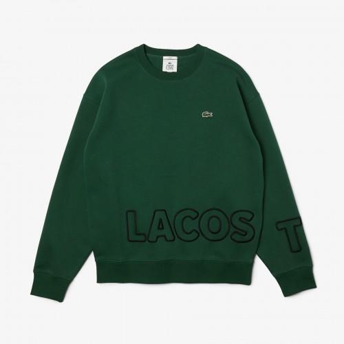 라코스테 Unisex Lacoste LIVE Crew Neck Embroidered Cotton Blend Sweatshirt
